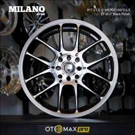 Velg Mobil Milano (2795) Ring 17 Black Polish