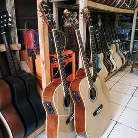 Promo gitar akustik elektrik gibson nature