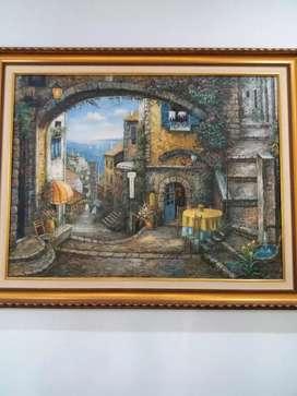 Lukisan mediteranian view