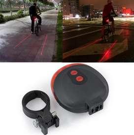Lampu ekor sepeda led dan laser