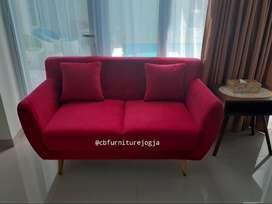 Sofa ready scandinavian , sofa minimalis 2seater