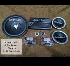 • Paket Audio Mobil stealth + 2way Cressendo +