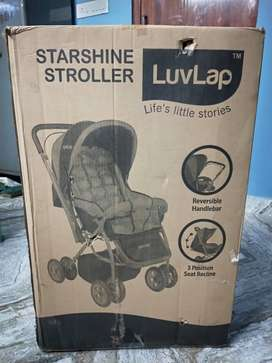 Unpacked luvlap brand Stroller Red colour