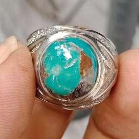 Natural Batu Cincin Pirus Persia Hijau 01