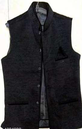 New Stylish Men's Ethnic Jacket  Fabric: Cotton