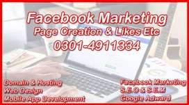 FACEBOOK Marketing & Google Ad | WEB Designing & APP Development