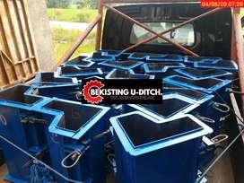 Cetakan kanstin uditch box culvert panel pres batako d12