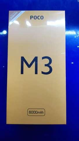 Poco m3 6/128segel garansi resmi