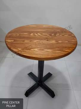 NEW 2X2 CAFE HOTEL ROUND PIPE TABLE (DIAMOND ART FURNITURE)
