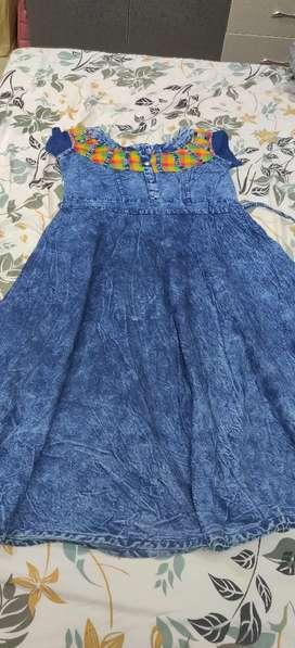 A casual/school/college/office wear jean blue top