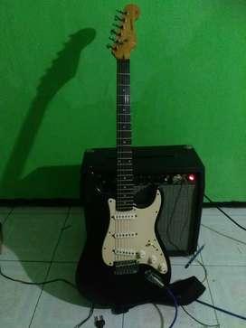 Guitar fender dan ampli fender