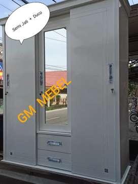 GM MEBEL. Lemari 3 Pintu Kayu Semi Jati Pekanbaru