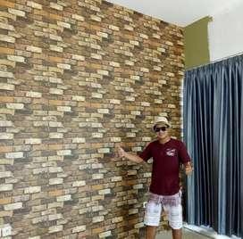 Wallpaper Dinding Motif Batu Bata Seri 1