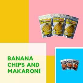 Kripik pisang dan makaroni