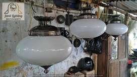 lampu gantung antik kuningan lawasan dekorasi hias lampu gantung joglo