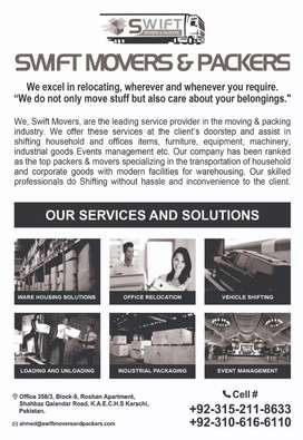 Swift movers and packers