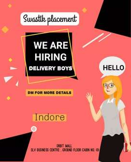 Hiring !! Delivery boy in indore
