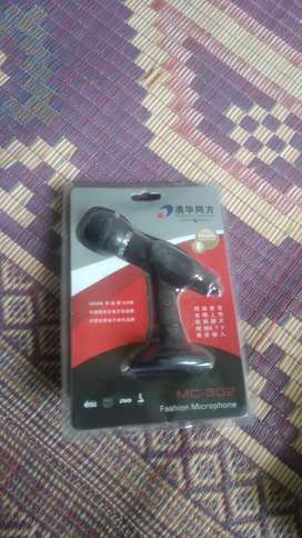 Microphone with stand MC-302 (Black) 3.5mm jack