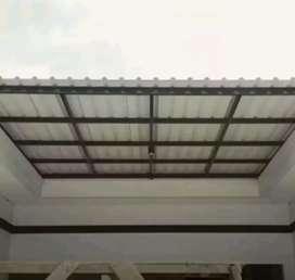@86 canopy minimalis rangka tunggal atapnya alderon pvc bikin nyaman