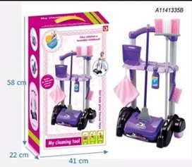 Mainan anak cleaning tool set alat pembersih anak