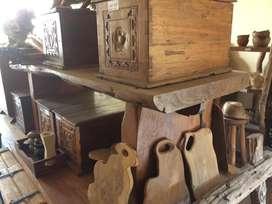Meja  panjang kayu jati