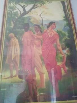 Oil painting sakunthala