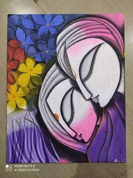 Radhakrishna acrylic painting