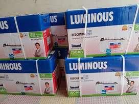 Luminous Tubular Battery 150 ah 36 months warranty