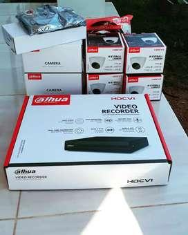 Paket lengkap 4 camera cctv Dahua 2 Mp Gratis pasang Terima beres.