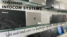 LIGHT USED CORE i3 LAPTOPS WITH WARRANTY