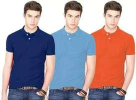 Ansh fashion wear pack of 3 Regular Wear Polo Neck  T- Shirt