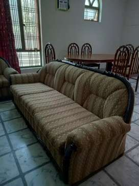 Dining table 6 Seater + 5 seater sofa