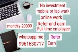 Online work recruitment