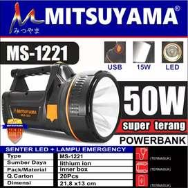Senter Led + Emergency 50 Watt MS 1221