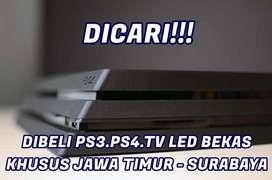 Siap membeli PS4,PS3,TV LED bekas agan. Tawarkan segera