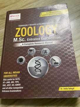 Zoology Msc. Entrance book
