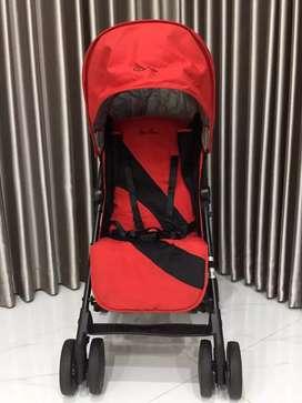 PRELOVED! Like New Stroller Silvercross POP Red