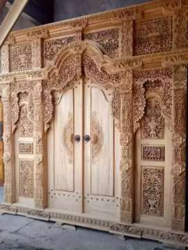 Bazar kusen pintu gebyok gapuro jendela ukir murah amanah tanpa dp cod