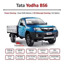Tata yodha 1700 pickup new launching 100 hp ,revers camera,