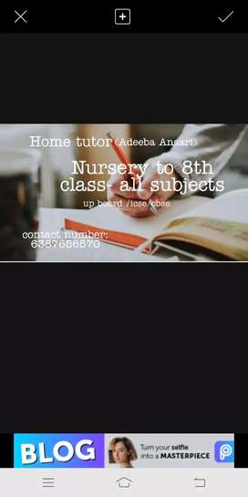 Home tutor for all subjects and for all board