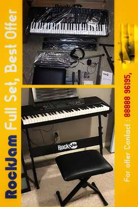 New RockJam RJ561Keyboard With a Stand & Stool,Last 17 sets available