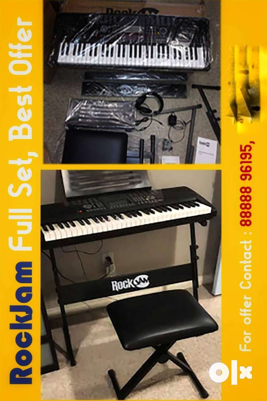 New RockJam RJ561Keyboard With a Stand & Stool,Last 17 sets available 0