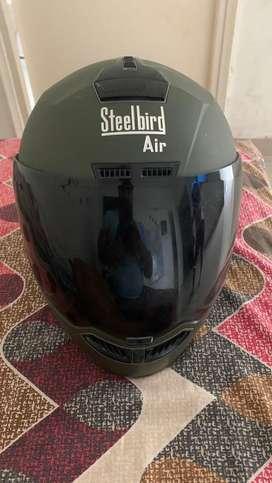 Steelbird air desert green full face helmet rarely used
