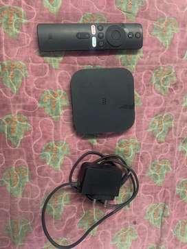 Mi Box 4k streaming device for sale light used