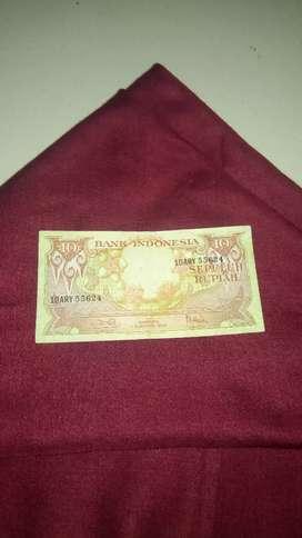 Uang kuno 10 rupiah 1959