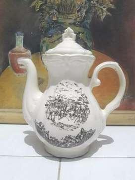 Teko keramik antik style eropa classic dekorasi vintage koleksi jadul