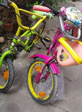 2 kids Bicycle (Green Hero: Rs. 1400  & Pink Newton :Rs. 1700