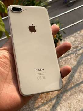 iPhone 8+ 64gb silver 10/10 complete