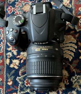 NIKON D 3200 DSLR camera with double lens and full box