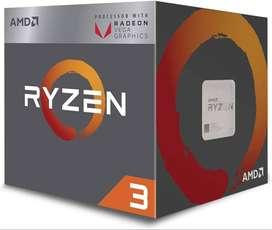 AMD Ryzen 3 2200G Processor with Radeon Vega 8 Graphics - YD2200C5FBBO